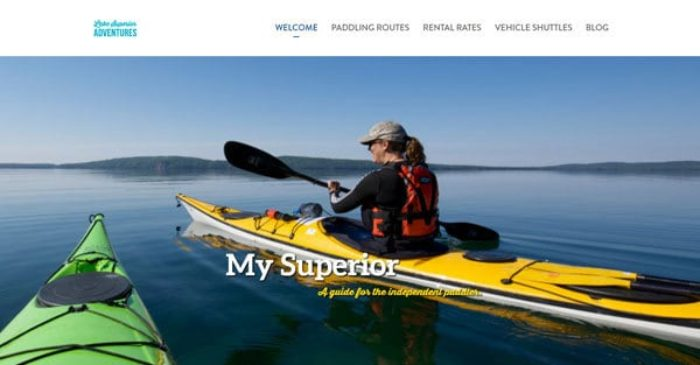 Lake Superior Adventures WordPress Website