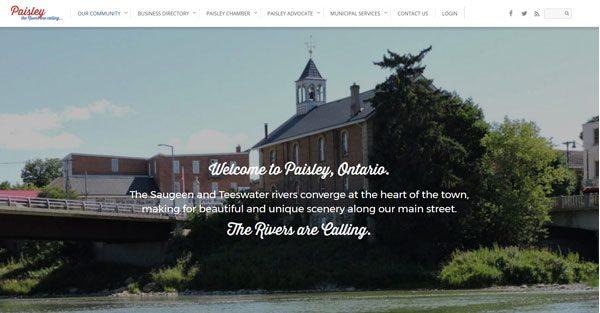 Paisley Village WordPress Website